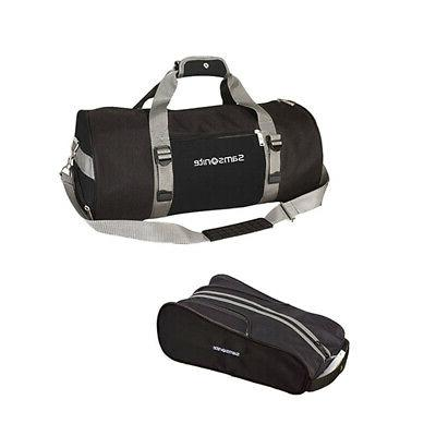 Samsonite Deluxe Piece Travel Set w/ Cover, Shoe Bag & Duffel, Black