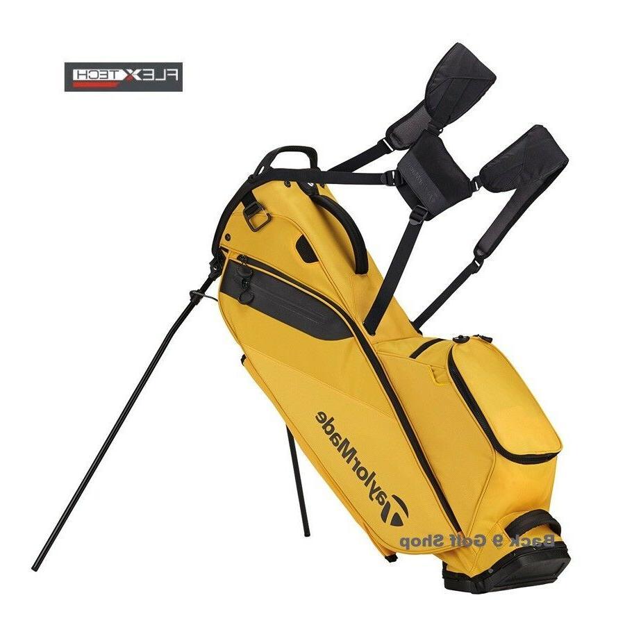 TaylorMade Golf FlexTech Stand Bag Yellow- New 2018