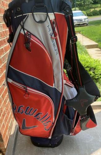 golf fusion 14 way stand bag navy