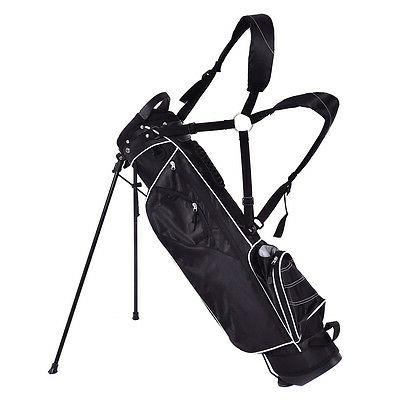 Golf Club w/4 Way Carry Pockets Black
