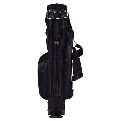 Golf Stand Club w/4 Carry Pockets Storage Black