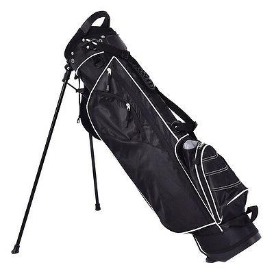 Golf Stand Cart Carry Pockets Storage Black