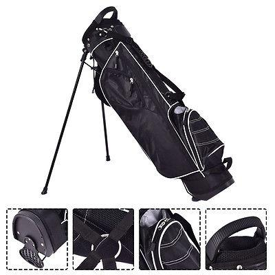 Golf Cart Bag Club Way Carry Black