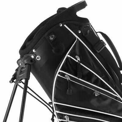 Golf Stand Club w/6 Way Carry Pockets Storage Black