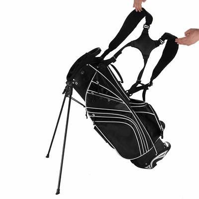 Golf Club w/6 Way Carry Organizer Pockets Black