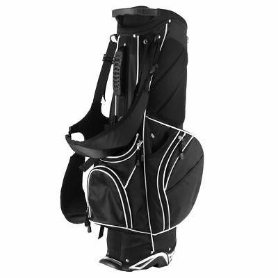 Golf Stand Cart Club w/6 Carry Storage Black