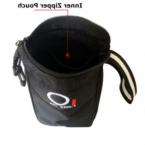 Golf Tee Pouch Balls Tees Pocket Black Stock