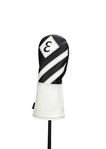 Callaway Headcover Cover Vintage Wood Black/White