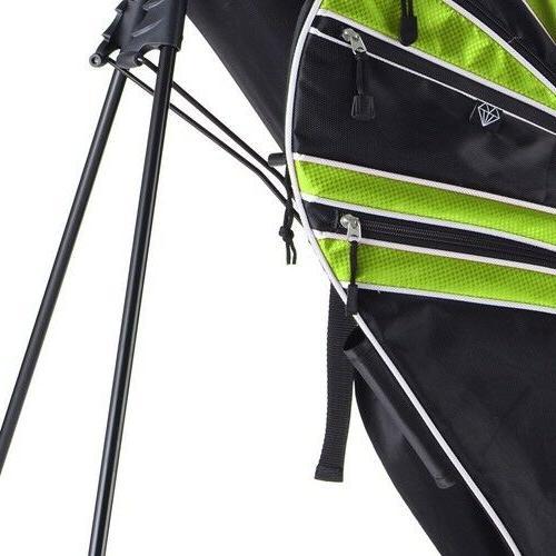 e09fa78c08ec Green Golf Stand Cart Bag Club w/6 Way