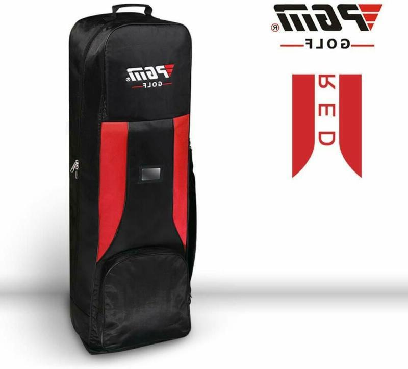 hkb001red golf travel bag cover double deck