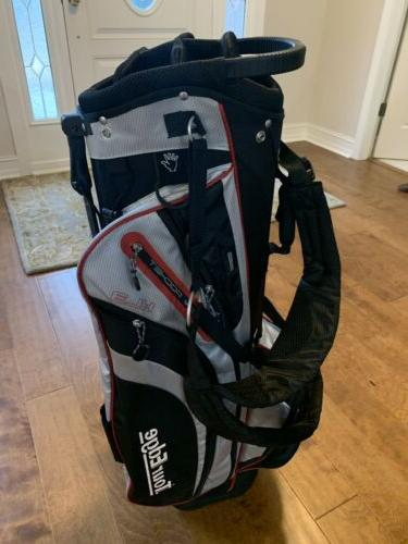 Tour Golf Stand Bag Silver Red