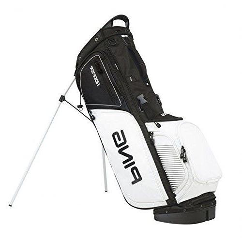 hoofer golf bag black white
