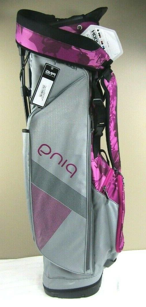 Ping Hooferlite Stand Golf Bag Silver/Dark Magenta Bloom 201