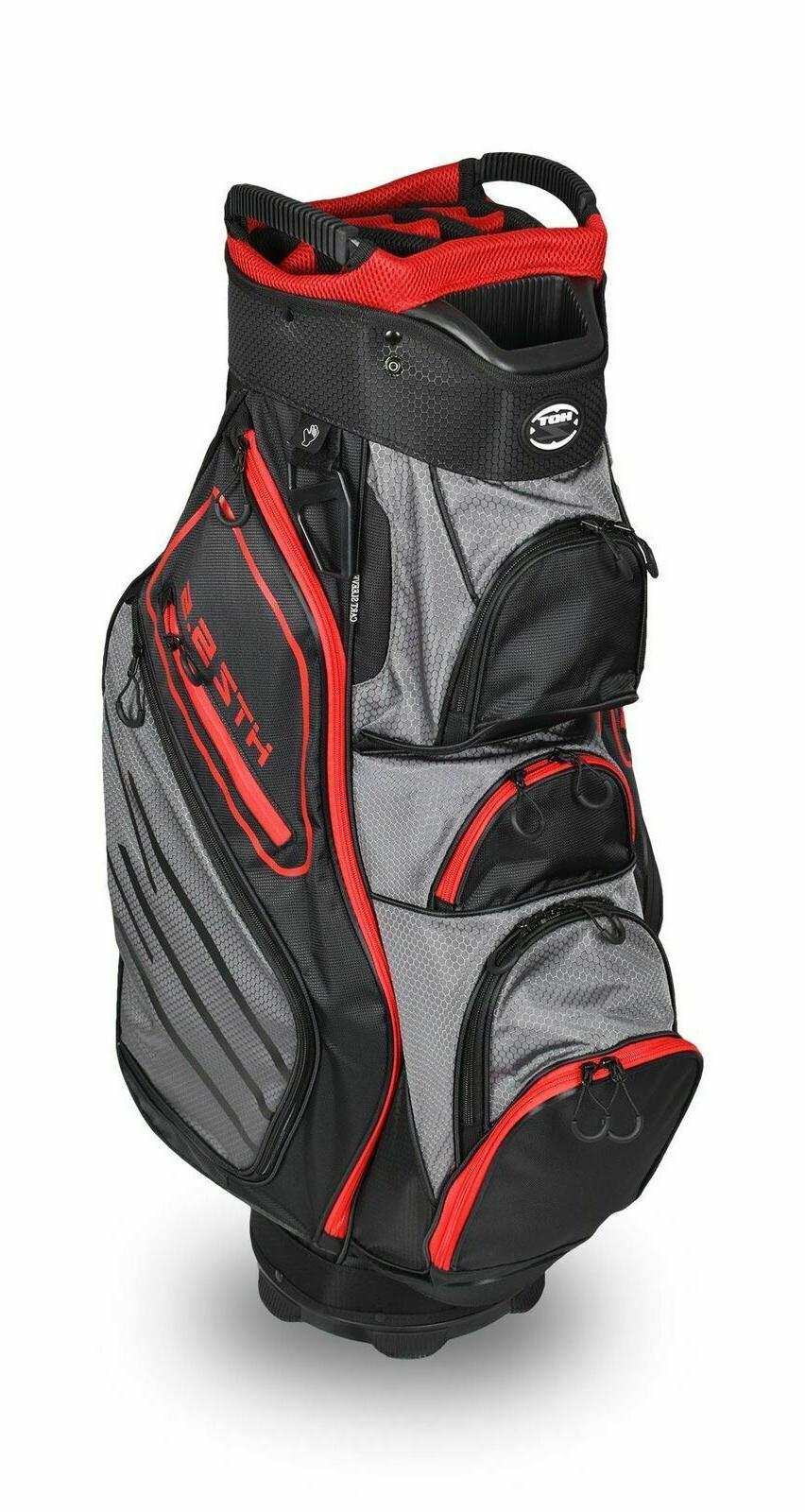 Hot-Z Golf 2018 5.5 Cart Black/Red/Grey Bag Free Shipping