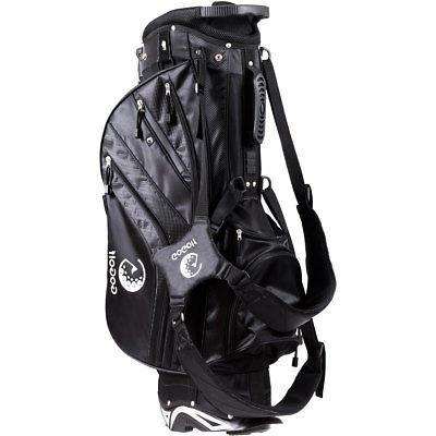 Hyper-Lite Stand Bag 6 Divider w/Shoulder Strap + Cover Black