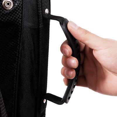 Hyper-Lite Golf Bag 6 Divider w/Shoulder Strap Cover Black