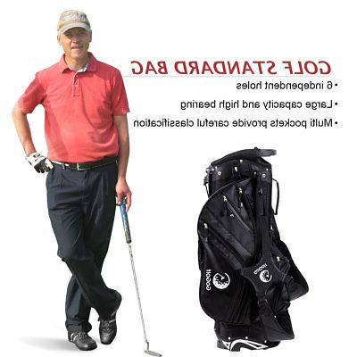 Portable Golf Bag 6 Cover Capacity Lightweight