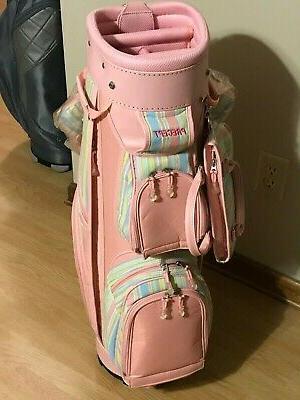 Precept Pink Cart Golf Bag Matching Headcover Set &