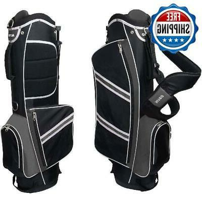 Lightweight Golf Stand Bag 5-Way Divider Carry Straps 4 Pock