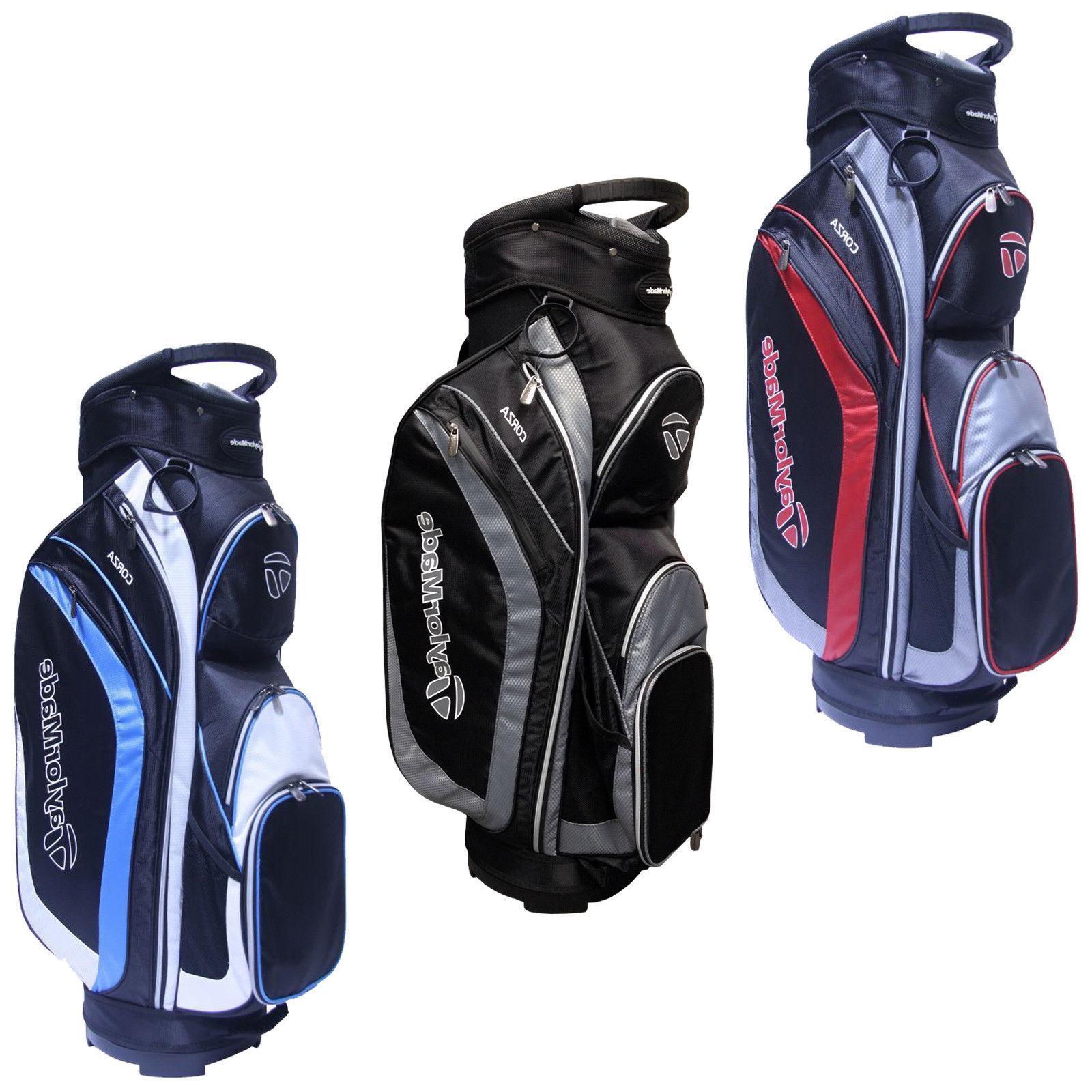 TaylorMade Mens Corza Cart Bag - New 14-Way Divider Top Golf