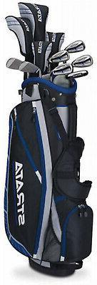 Mens Strata Plus Complete 16-Piece Golf Club Set with Bag, L