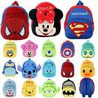 Minnie Spiderman Baby Kids Mini Backpack Cartoon Animal Scho