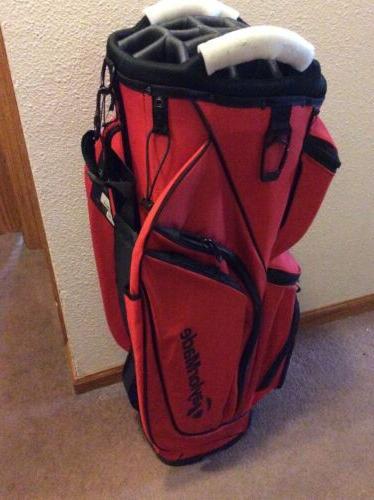 new 2017 supreme cart golf bag red