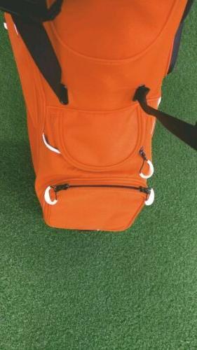 New Taylormade Tech 5-Way Stand Bag Orange