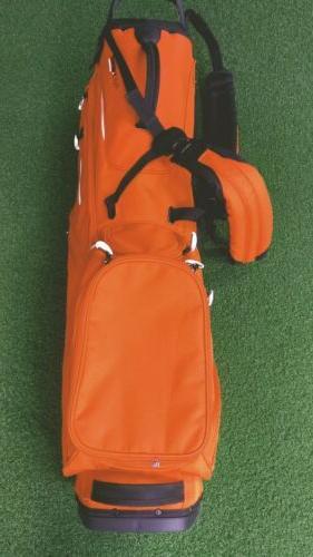 New 2019 Taylormade Flex Tech 5-Way Golf Stand Bag Orange