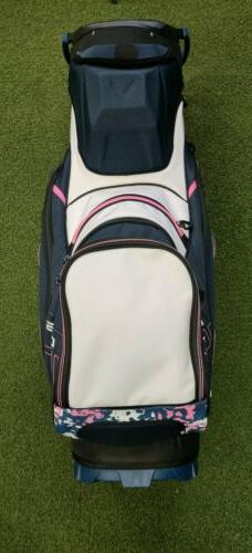 New 2019 Ladies Callaway Uptown 14-Way Cart Bag Floral/Navy/White