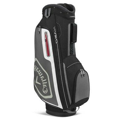 NEW 2020 Callaway Golf Chev 14 Cart Bag: Black & Charcoal