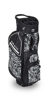 New 2020 Hot-Z Golf Ladies 3.5 Cart Bag ~ Lace Black & White