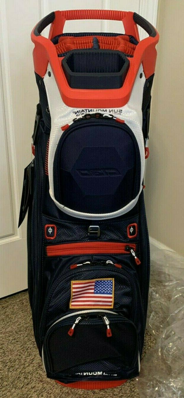 NEW Mountain C-130 Cart Bag 14 Full 2019 Navy/White/Red USA