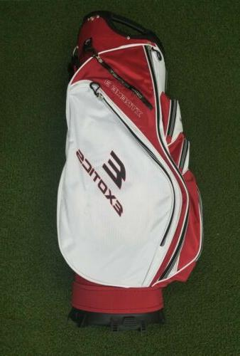 New Tour Edge Exotics Extreme 3 Golf Cart Bag Red/White