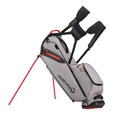 new flextech lite stand bag gray red