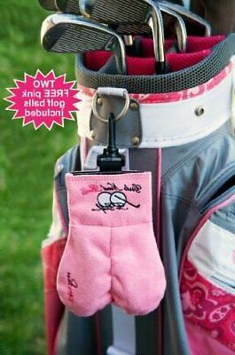 new girls golf ball storage sack pink