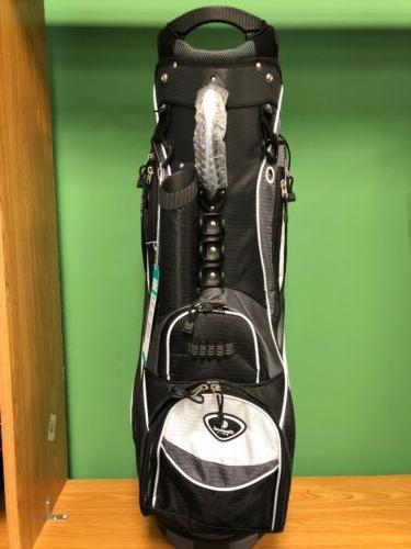 NEW Cleveland Golf 2019 CG Light Bag 14-way Black/ Gray/