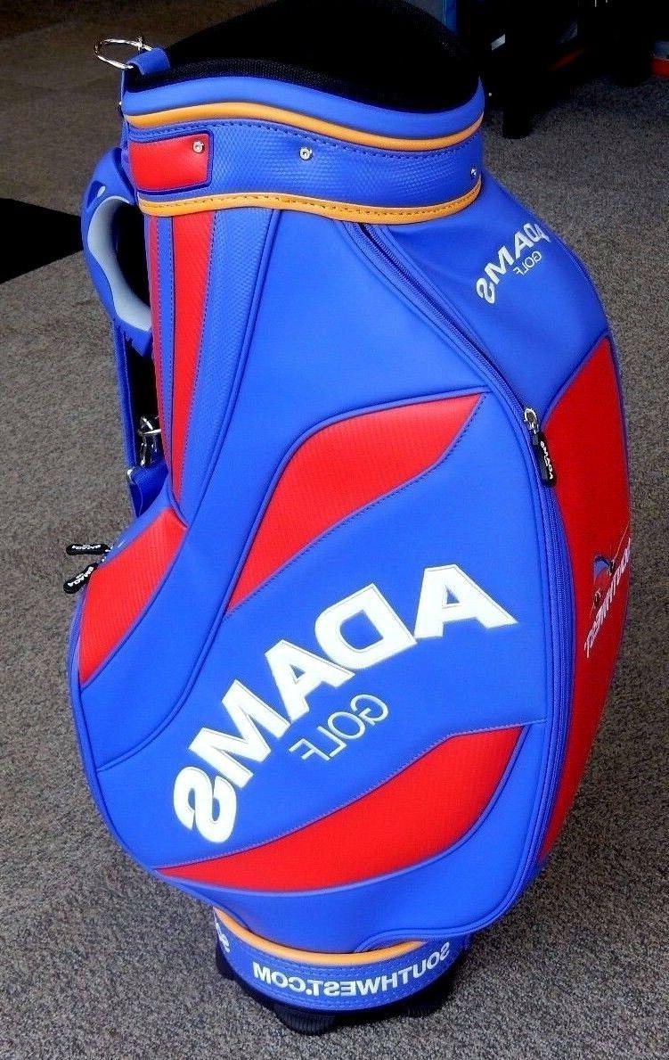 "Adams Golf 9.5"" Cart Bag Blue/Red/Yellow RARE!"