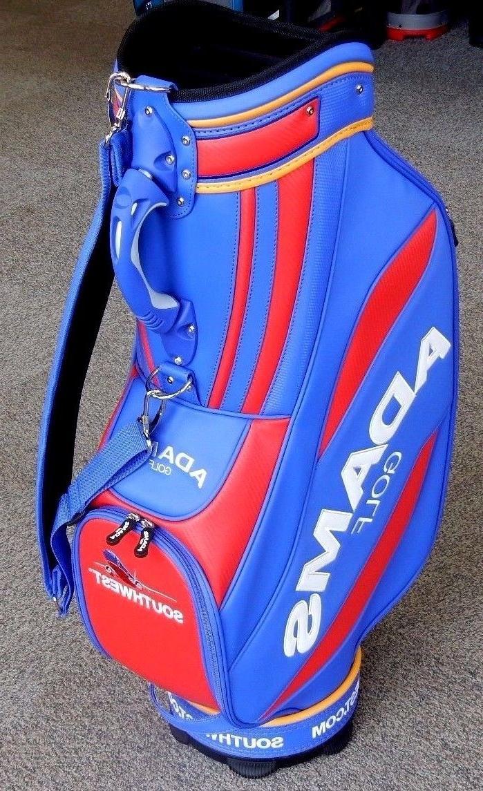 Adams Golf Staff Cart Bag Blue/Red/Yellow RARE!