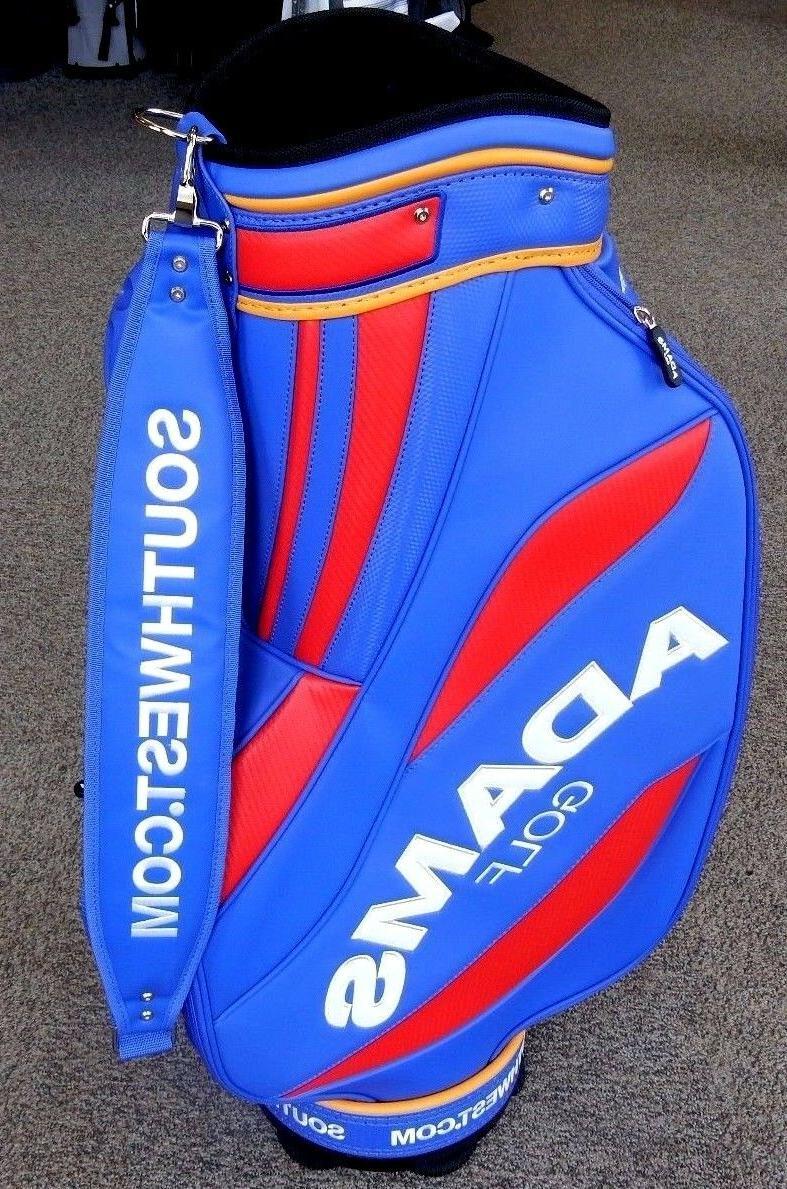Adams Cart Bag 6-Way Blue/Red/Yellow RARE!