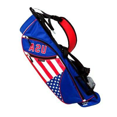 NEW Northern Spirit Golf USA Sunday / Carry Bag Red / White