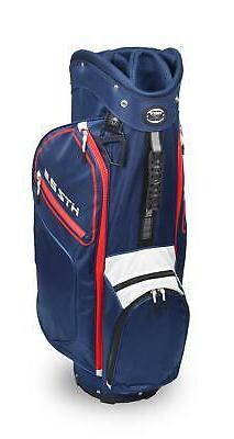 New Hot-Z Golf 2.5 Cart Bag Red/White/Blue