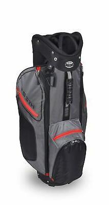 New Hot-Z Golf 2.5 CartBag Black/Gray/Red