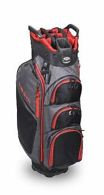 New Hot-Z Golf 2020 6.0 Cart Bag Black/Gray/Red