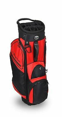 New Hot-Z Golf 3.5 Cart Bag Red/Black (Zip Off Pocket