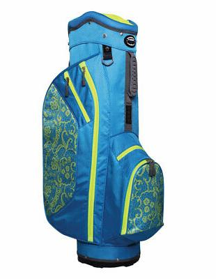 New Hot-Z Golf Ladies 2017 2.5 Cart Bag Lace Blue/Lime