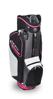 New Hot-Z Golf Ladies 2020 2.5 Cart Bag Black/Pink/White