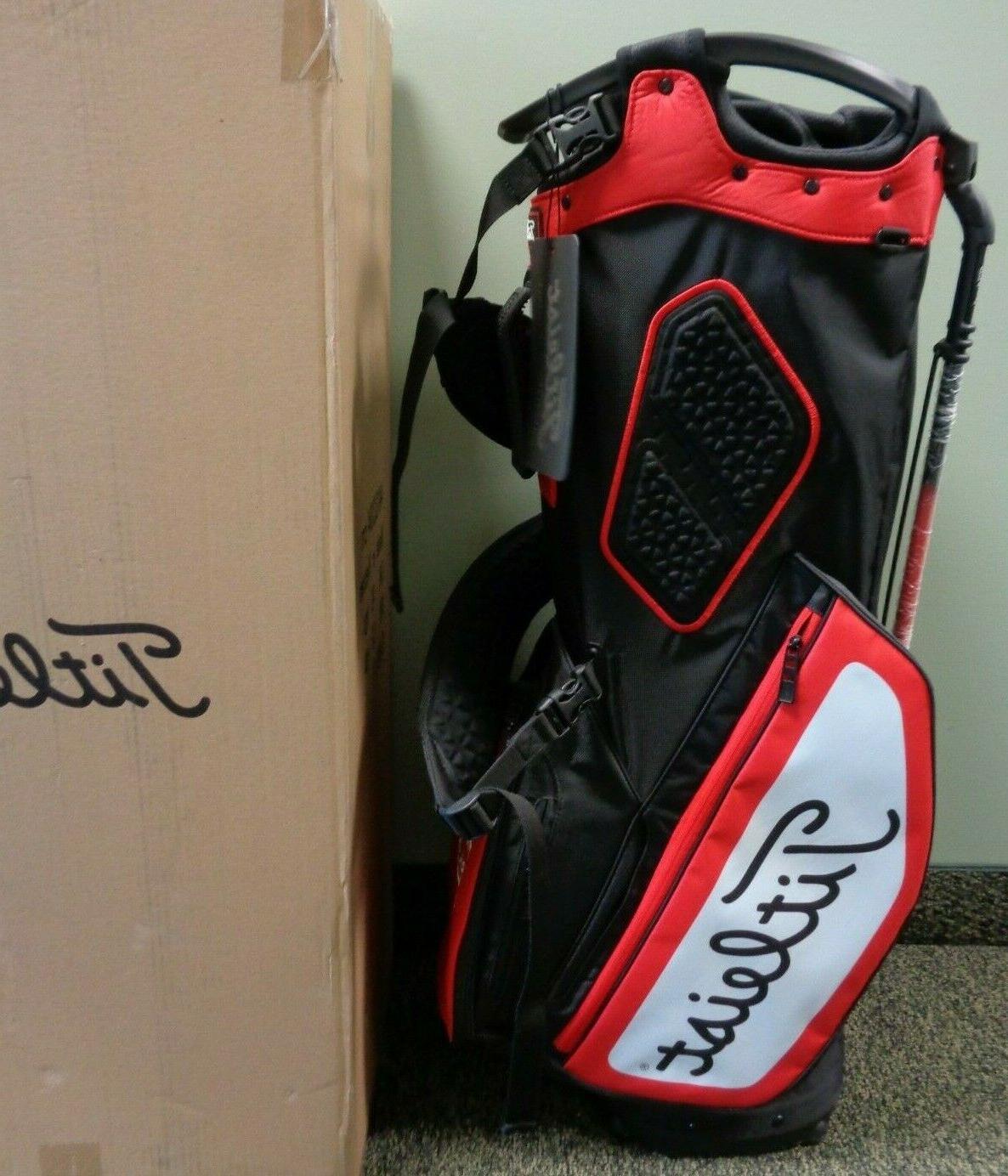 NEW Titleist Bag, BLACK/WHITE/RED