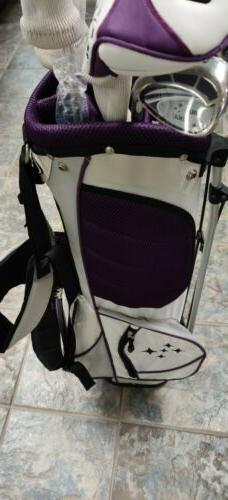 New Ladies Lady Golf Set 7 Stand Bag Handed