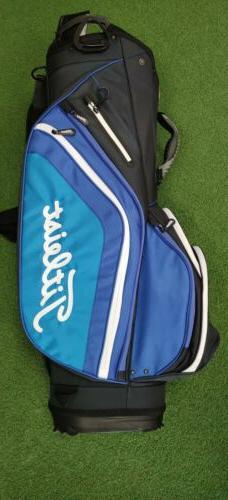 New Titleist Light Weight 14-Way Golf Cart Bag Blue/Black/Wh